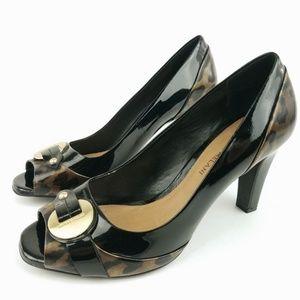 Antonio Melani Patent Peep Toe Pump Heel 9 EC26